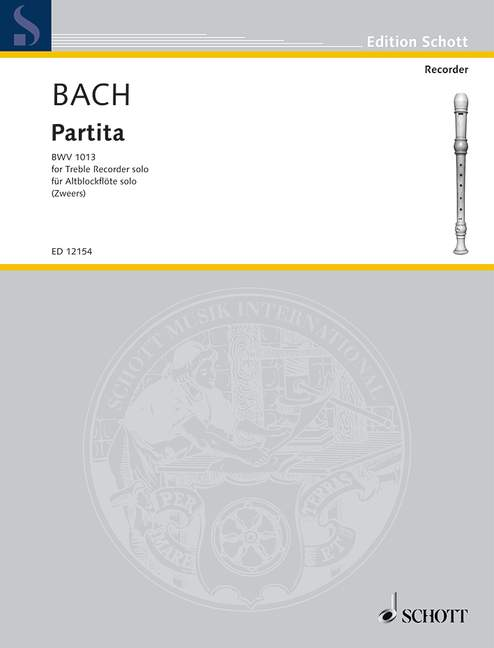 Partita BWV 1013 Bach Johann Sebastian treble recorder 9790220113833